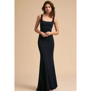 BHLDN ANTHROPOLOGIE LUCY DRESS BLACK MAXI GOWN